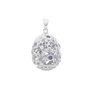 2.85ct Tanzanite Sterling Silver Moscow Egg Pendant