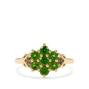 Chrome Diopside & Green Diamond 9K Gold Ring ATGW 0.93cts