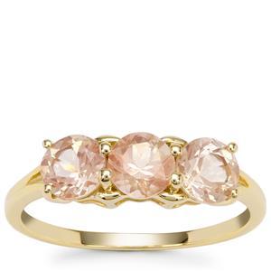 Peach Parti Oregon Sunstone Ring in 9K Gold 1.46cts
