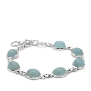 Aquamarine Bracelet in Sterling Silver 32cts
