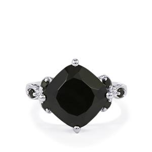 9.19ct Black Spinel Sterling Silver Ring