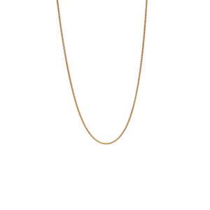 """18"""" 18K Gold Dettaglio Mini Spiga Chain 2.40g"""