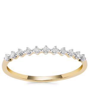 Diamond Ring in 9K Gold 0.09ct