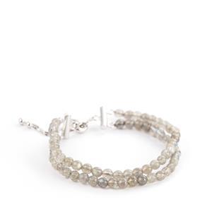 35ct Labradorite Sterling Silver Slider Bracelet