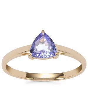 AA Tanzanite Ring in 9K Gold 0.72ct