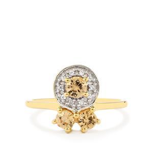 1.00ct Ceylon & White Zircon 9K Gold Ring
