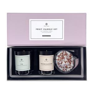Gem Auras Fruit Fragrances Trilogy Candle Gift Set with Agate, Calcite & Jasper ATGW 90cts