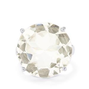 17ct Optic Quartz Sterling Silver Ring