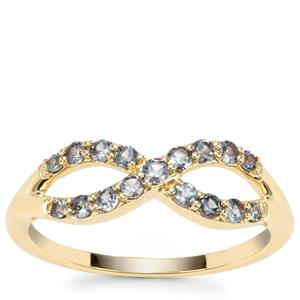 Miova Loko Garnet Ring in 9K Gold 0.51ct