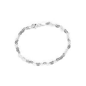 "7.5"" Sterling Silver Altro Heart Link Bracelet 1.95g"
