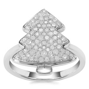 Diamond Ring in Sterling Silver 0.53ct