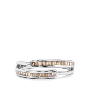 1/4ct Multi-Colour Diamond Sterling Silver Ring