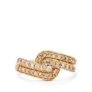 Pink Diamond Ring in 18k Rose Gold 0.76ct