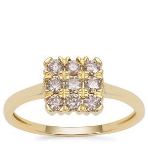 Champagne Argyle Diamond Ring in 9K Gold 0.51ct