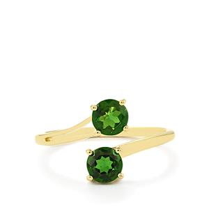1.04ct Chrome Diopside 9K Gold Ring