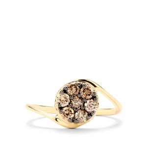 1/2ct Champagne Diamond 10K Gold Ring