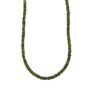 Chrome Diopside Graduated Bead Necklace in Sterling Silver 51cts