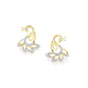 1/4ct Diamond 9K Gold Earrings