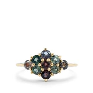 Tunduru Colour Change Sapphire Ring in 10K Gold 1.40cts