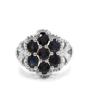 3.22ct Australian Blue Sapphire Sterling Silver Ring