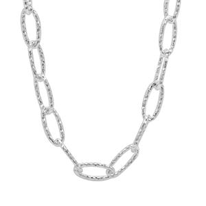 "18"" Sterling Silver Diamond Cut Link Filo Chain 3.25g"