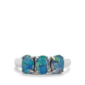 Mosaic Opal Sterling Silver Ring (6.50x 5mm)
