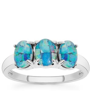 Mosaic Opal Ring in Sterling Silver (6.50 X 5MM)