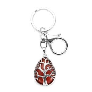 22.15ct Red Jasper Tree of Life Key fob
