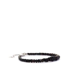 Ethiopian Black Opal Bracelet in Sterling Silver 20.64cts