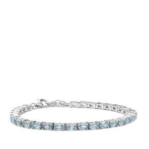 Ratanakiri Blue Zircon Bracelet in Sterling Silver 12.19cts