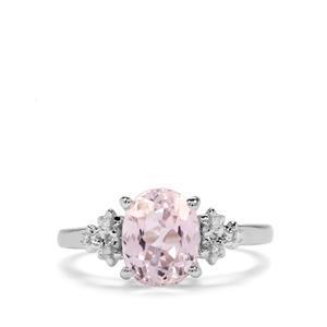 Kolum Kunzite & Diamond Sterling Silver Ring ATGW 2.75cts