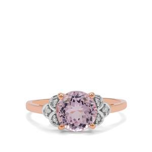 Kolum Kunzite & Diamond 9K Rose Gold Ring ATGW 2.65cts