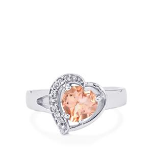 1.52ct Galileia & White Topaz Sterling Silver Ring