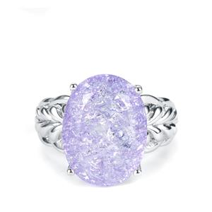 Lilac Crackled Quartz Ring in Sterling Silver 9.79cts