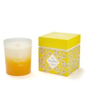 Limited Edition - Daisy Chain Candle With Yellow Jade Carved Daisy Gemstone ATGW 10cts