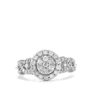 Diamond Ring  in Sterling Silver 1.05ct