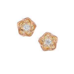 1/10ct Russian Si Diamond Sterling Silver Earrings
