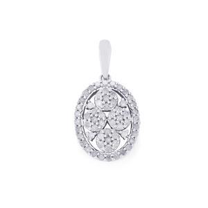 Diamond Pendant in 9K White Gold 0.52ct