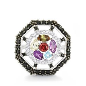 4.04ct Exotic Gems Sterling Silver Ring