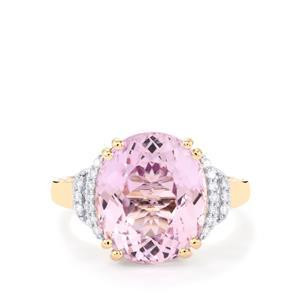 Mawi Kunzite & Diamond 18K Gold Lorique Ring MTGW 7.97cts