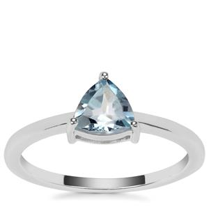 Sky Blue Topaz Ring in Sterling Silver 0.75ct
