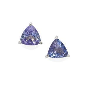 1.32ct Tanzanite Sterling Silver Earrings