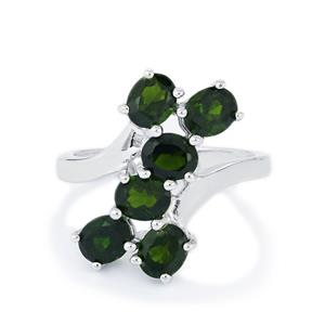 2.83ct Chrome Diopside Sterling Silver Ring