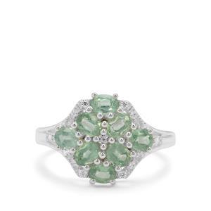 Odisha Kyanite & White Zircon Sterling Silver Ring ATGW 1.92cts