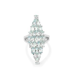 Espirito Santo Aquamarine Ring in Sterling Silver 4.81cts