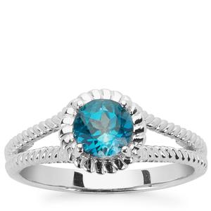 1.04ct Ceylonese London Blue Topaz Sterling Silver Ring