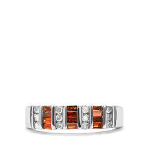 1/2ct Red & White Diamond 10K White Gold Ring