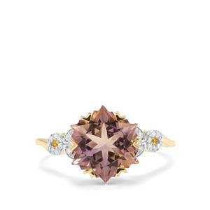 Wobito Snowflake Cut Anahi Ametrine & Diamond 9K Gold Ring ATGW 3.75cts
