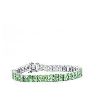 Tsavorite Garnet Bracelet in Sterling Silver 14.81cts