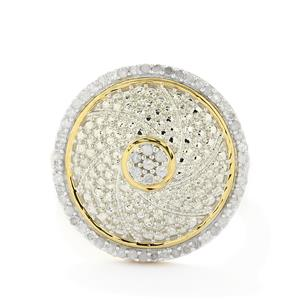 1/3ct Diamond Gold Plated Sterling Silver Ring